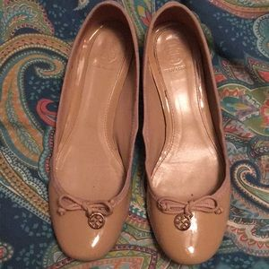 Tory Burch patent leather block heels shoes 7.5